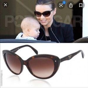 PRADA Sunglasses SPR 21N, dark tortoiseshell color